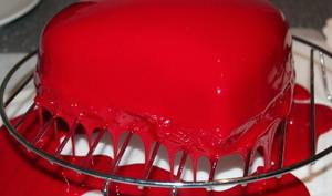 Le glaçage miroir rouge