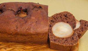 Gâteau du matin au chocolat et aux poires entières