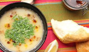 Soupe de fèves séchées à l'ail