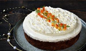 Gâteau panais, noix, orange, épices