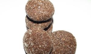Baisers diamantés de Noël au chocolat