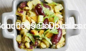 Fruits et légumes, sauce aux agrumes.