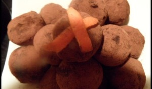 Truffes au chocolat à l'orange confite et cointreau