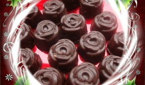 Petits chocolats fins ganache au lait, à la fève Tonka et à la vanille