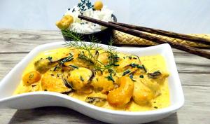 Moules à la sauce satay coco
