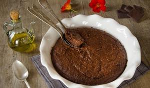 Fondant chocolat, amandes et huile d'olive