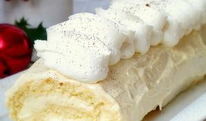 Bûche roulée à la vanille