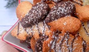 Biscuits sablés noix de coco chocolat