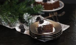 Gâteau aux mûres amandes et chocolat