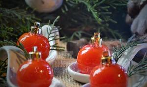 Tomates cerises caramélisées, comme des boules de Noël