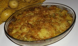 Gratin de pommes de terre à l'anchoïade