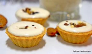 Coupelles ou mini tellines garnies de crème de nougat