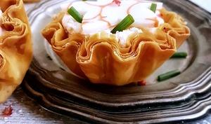 Tartelettes express à la mousse aux crevettes