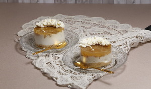 Petits cheese cakes aux pommes