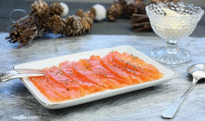 Saumon gravlax au miel et à l'orange