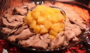 Rôti de porc à l'ananas