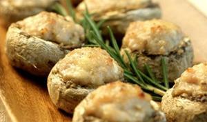 Champignons farcis à la viande hachée et au parmesan
