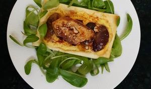 Tartelettes au foie gras et figues rôties