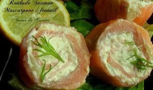 mini roulés saumon fumé mascarpone et fenouil