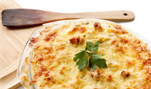 Gratin de pommes de terre potiron et fromage frais