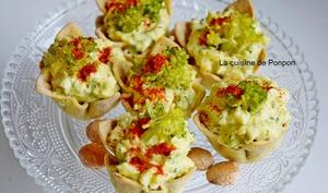 Amuse bouche salade de brocoli, végétarien