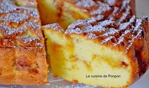 Gâteau au yaourt à la confiture de clémentine corse, agrumes confits et confiture de lait