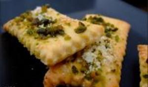 Crackers au Parmesan et Pistaches