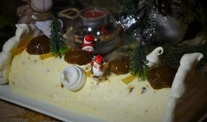 Nougat glacé aux marrons confits et oranges confites