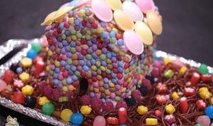 Maison en pain d'épices bonbons
