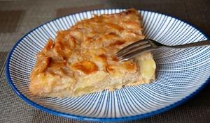 Gâteau aux pommes caramélisé au rhum