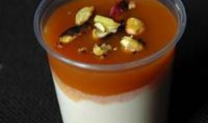 Crème à la Pistache et son Coulis d'Abricot
