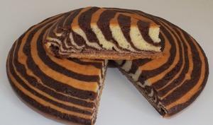 Gâteau zébré ou zebra cake