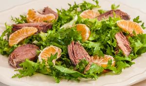 Salade de confit de canard aux clémentines