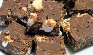Chocolat crunchy à la guimauve