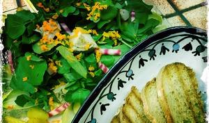 Salade de légumes et verdure chaud froid