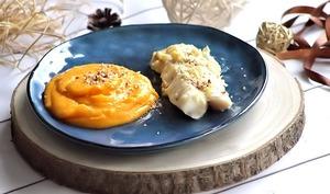 Dos de cabillaud au pecorino truffé et purée de butternut