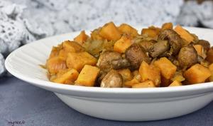 Poêlée de champignons à la patate douce