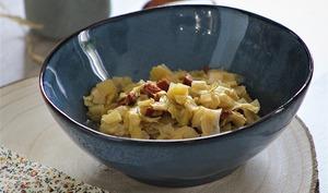 Fondue de poireaux au chorizo et parmesan