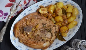 Rouelle de porc au citron confit