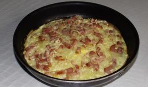 Tart'omelette façon flammekueche