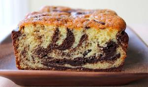 Cake marbré moelleux au chocolat au Thermomix