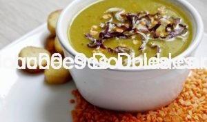 Velouté alcalin de légumes et légumineuses en cuisson douce