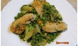 Aiguillettes de poulet aux légumes verts