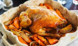 Poulet rôti à la patate douce