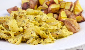 Tofu brouillé à la moutarde