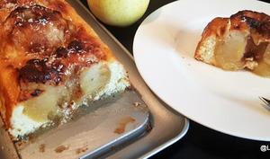 Cake aux pommes entières et fromage blanc