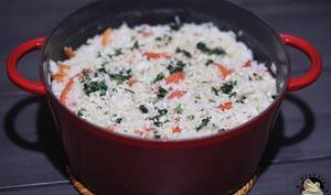 Cocotte riz poulet poivrons aux cacahuètes