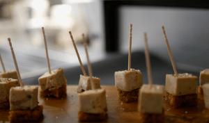 Dés de foie gras et pain d'épices
