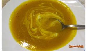 Soupe de potimarron et lentilles corail