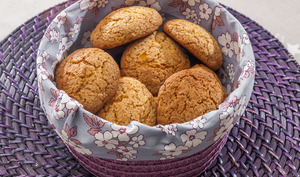Cookies au miel et à l'orange confite
